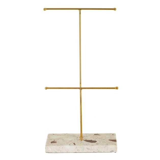 Sass & Belle: Double Terrazzo Gold Jewellery Stand