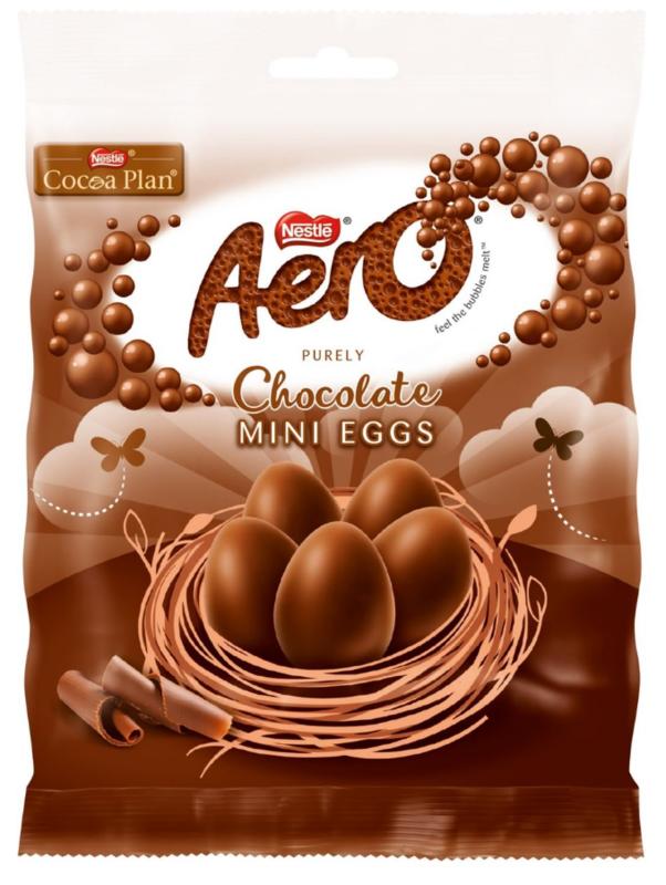 Nestle: Aero Milk - Mini Eggs (70g) 12pk