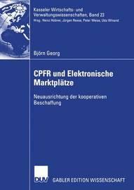 Cpfr Und Elektronische Marktplatze by Bj Rn Georg
