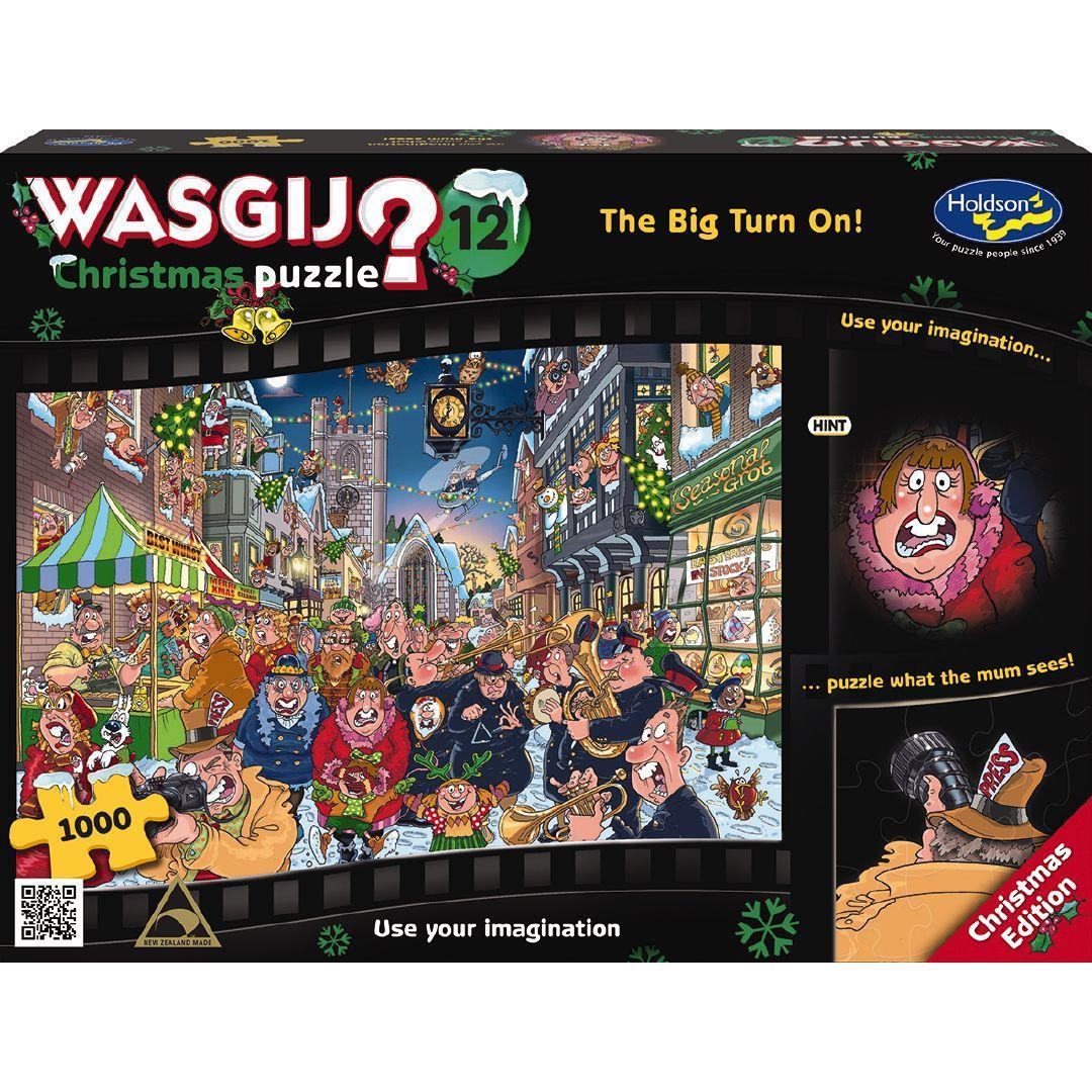 Wasgij: Christmas 12 - The Big Turn On - 1000 Piece Puzzle image