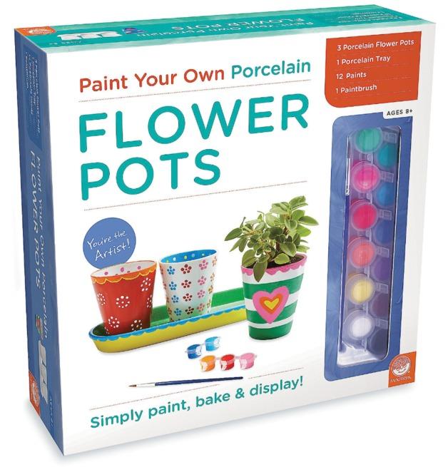 Mindware Create: Paint Your Own - Porcelain Flower Pots