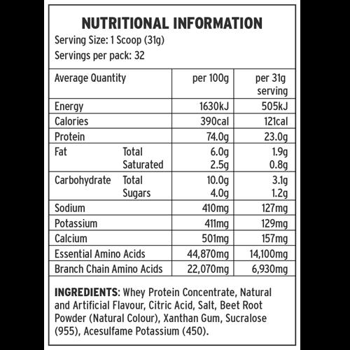 Eat Me Premium Whey Protein - Strawberry (1kg) image