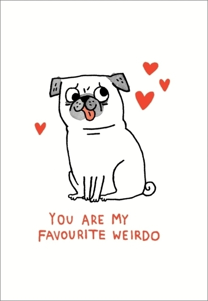 Favourite Weirdo Anniversary Love Card
