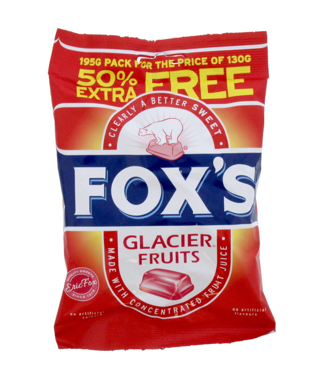 Fox's: Glacier Fruit (130g) 12pk