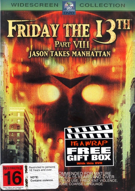 Friday The 13th Part 8 - Jason Takes Manhattan (New Packaging) on DVD