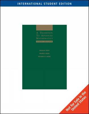 A Transition to Advanced Mathematics by Douglas Smith