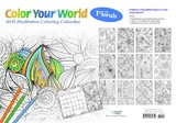 Colour Your World with Florals 2017 Desk Planner