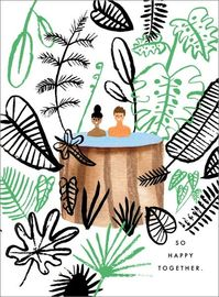 Carolyn Suzuki - Hot Tub In Paradise Greeting Card image