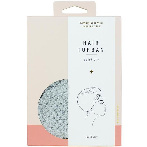 Simply Essential Quick Dry Hair Turban - Grey