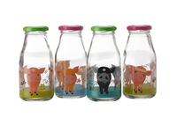 Maxwell & Williams Cosmopolitan Colours: 4 Piece Bottle Set - Pig (250ML)