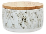 Me & My Trend Short Marble Canister - White/Gray