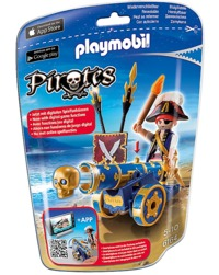 Playmobil: Foil Bag - Blue Pirate & Cannon (6164)
