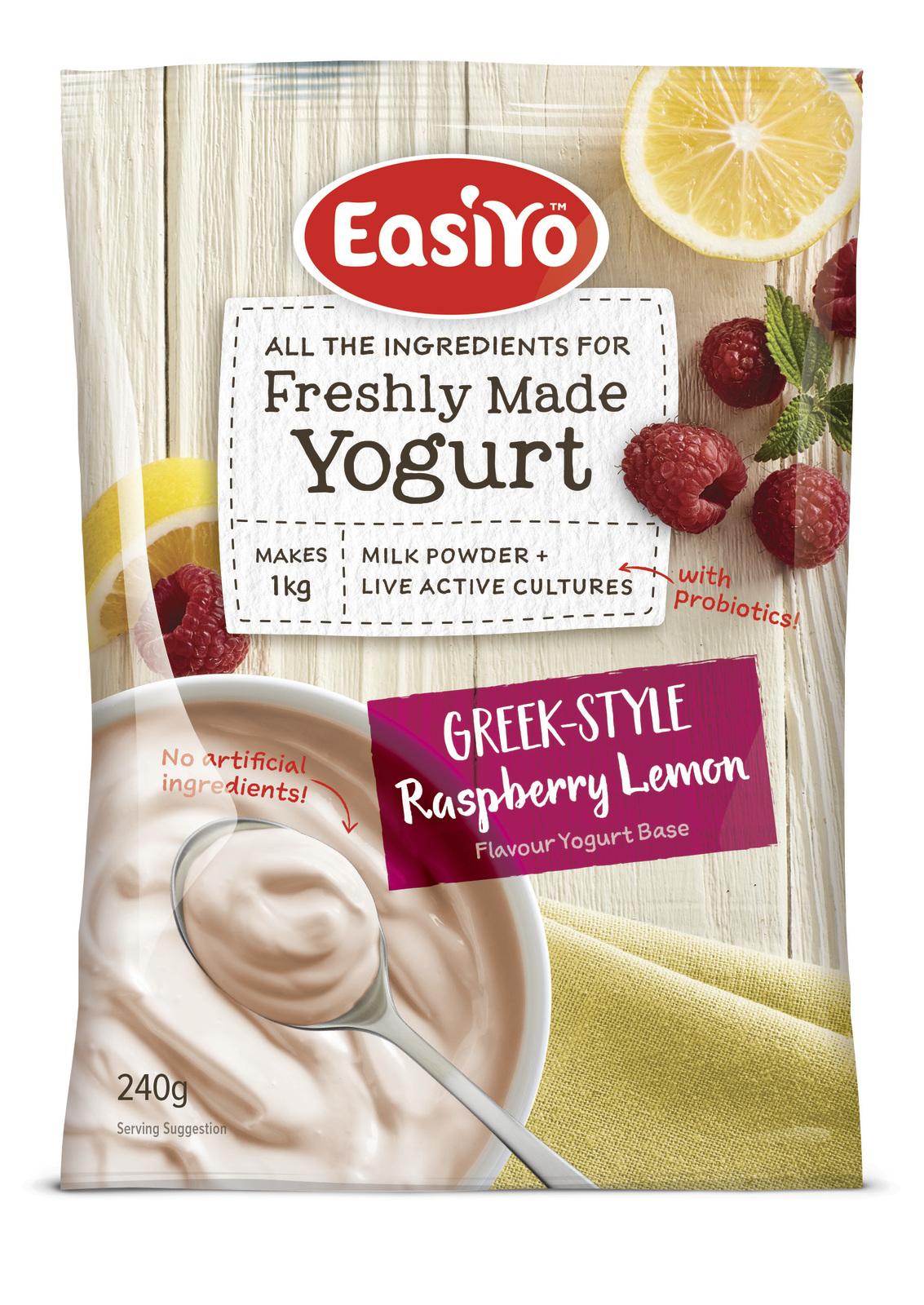 Easiyo Greek-Style Raspberry & Lemon (230g) image