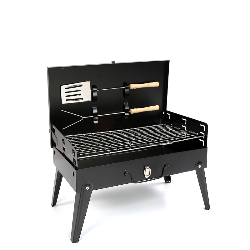 Premium Foldable Portable Charcoal BBQ with Cover and Tools image