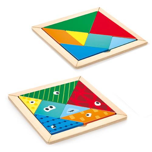 Hape: Tangram - Wooden Puzzle