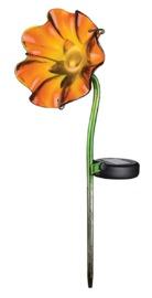 Regal Art & Gift: Mini Solar Poppy Stake - Orange