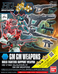 1/144 HGBF GM Weapons Pack - Accessory Kit