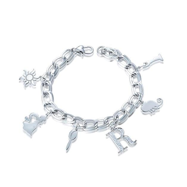 Couture Kingdom: Disney - Princess Rapunzel Charm Bracelet (White Gold)