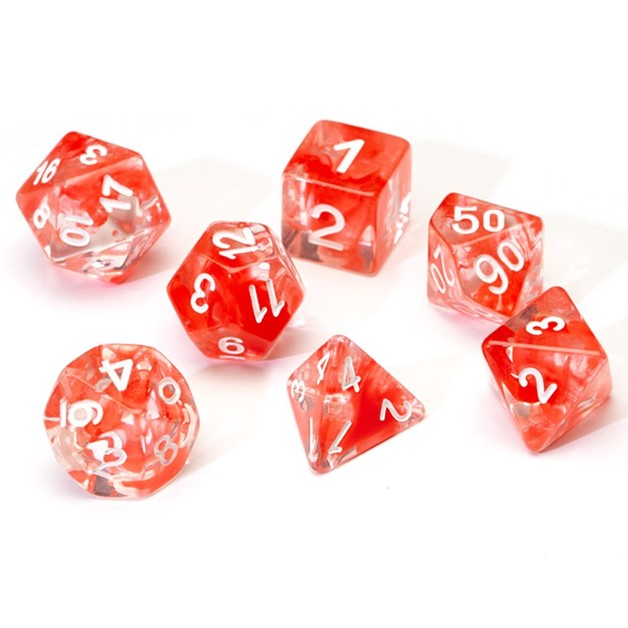 Sirius Dice: Polyhedral Dice Set - Translucent Red Cloud