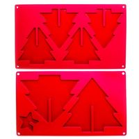 3D Christmas Tree Silicone Chocolate Mould - Red