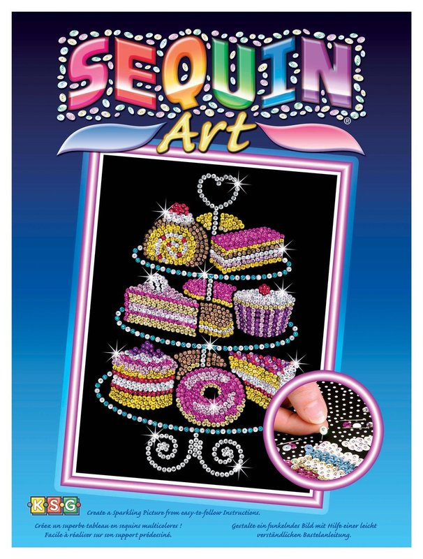 Sequin Art - Cake Stand