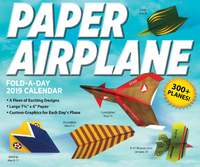 Paper Airplane Fold-a-Day 2019 Day-to-Day Activity Calendar by Kyong Lee