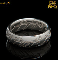 Lord of the Rings: The One Ring by Weta - Size R½, Sterling Silver