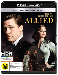 Allied on Blu-ray, UHD Blu-ray