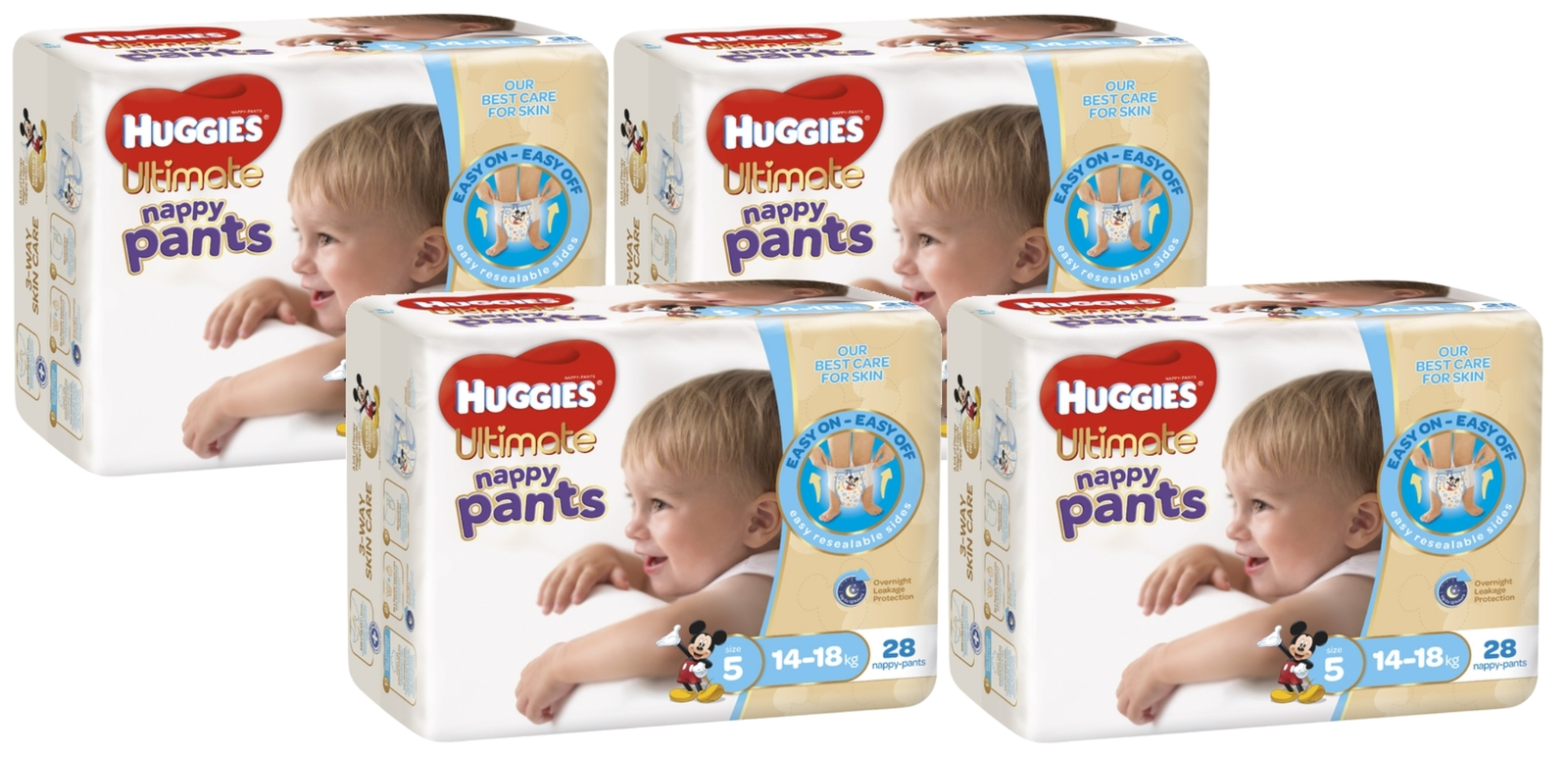 Huggies Ultimate Nappy Pants Bulk Shipper - Walker Boy 14-18kgs (112) image