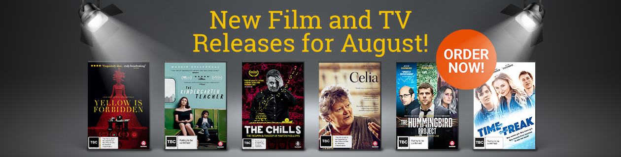 New Film and TV Releases for August!