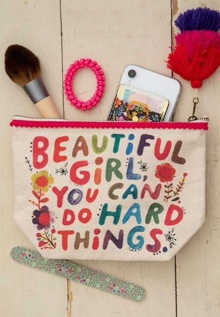 Natural Life: Canvas Cosmetics Pouch - Beautiful Girl