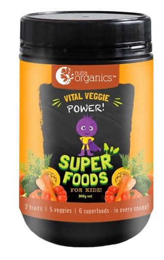 Nutra Organics Superfoods for Kids - Vital Veggie Powder (300g)