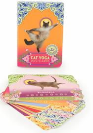 Cat Yoga Postcards (32 Postcards) by Rick Tillotson image