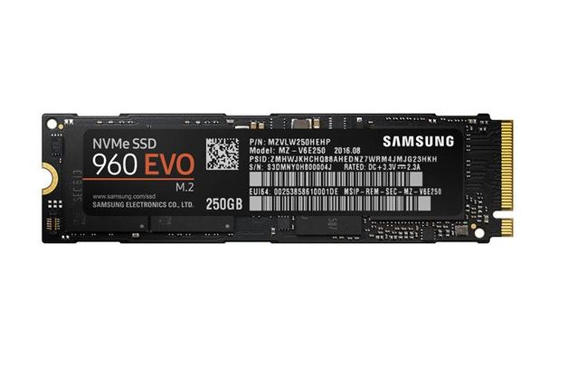 Samsung 960 Evo 250GB M.2 3200MB Read/1500MB Write