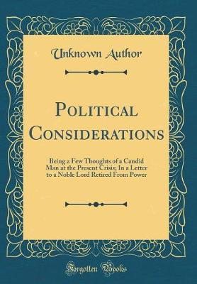 Political Considerations by Unknown Author image