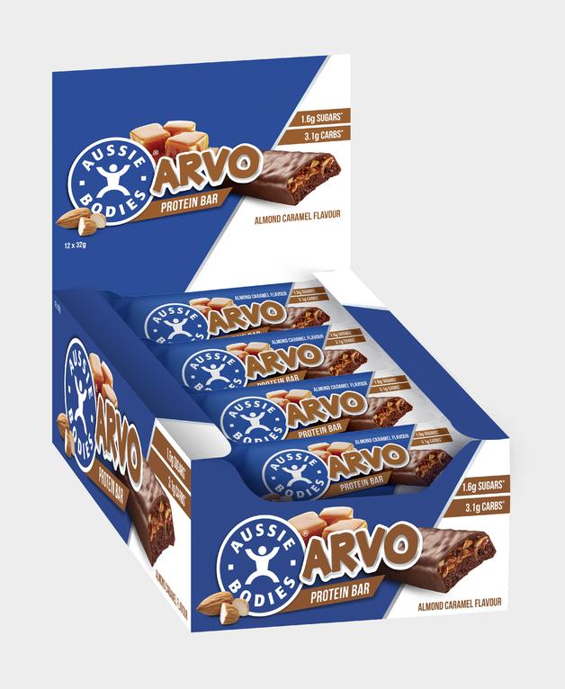 Aussie Bodies Arvo Protein Bars - Almond Caramel (Box of 12)