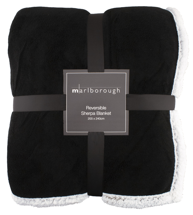 Black Sherpa Blanket