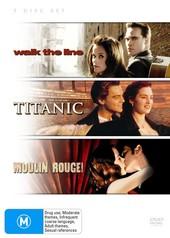 Walk The Line / Titanic / Moulin Rouge (3 Disc Set) on DVD