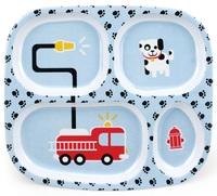 Bumkins: Melamine Divided Plate - Fire Truck