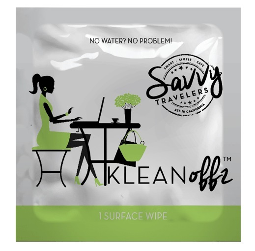 Savvy Travellers: Klean Offz - Surface Sanitising Wipes
