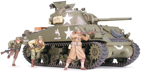 Tamiya M4A3 Sherman 75mm Front Line Breakthrough 1:35 Model Kit image