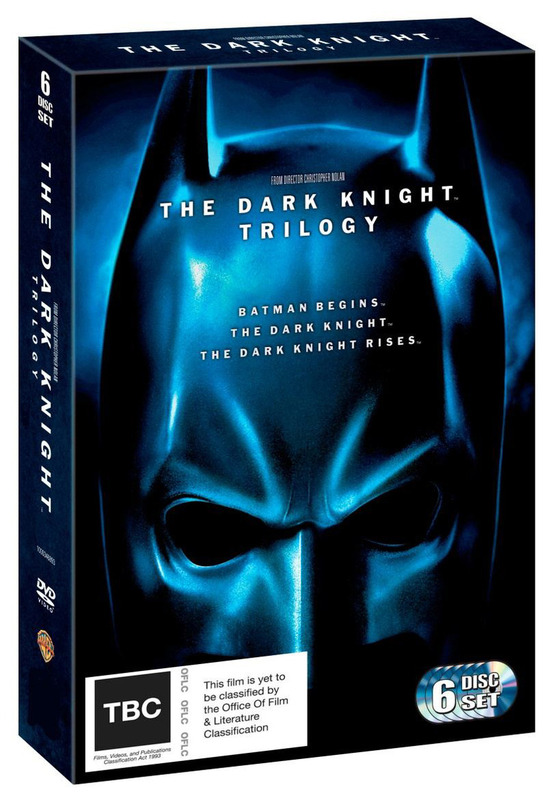 The Dark Knight Trilogy with Coffee Table Book on DVD