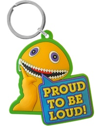 Rainbow: Proud to be Loud - Zippy Keyring