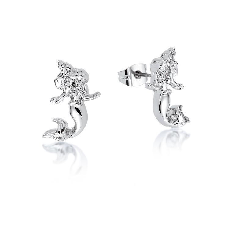 Couture Kingdom: Disney - Princess Ariel Stud Earrings (White Gold) image