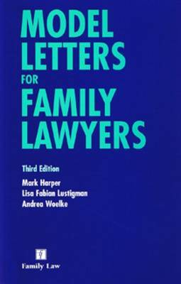 Model Letters for Family Lawyers by Mark Harper image
