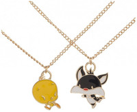 Looney Tunes Tweety and Sylvester Bestie Necklace Set