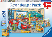 Ravensburger At the Service Station Puzzle (2 x 24pc)