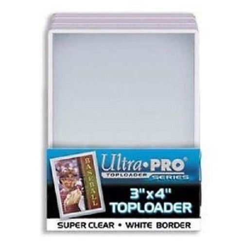 Ultra Pro: Toploaders - 3x4 White Border
