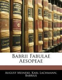 Babrii Fabulae Aesopeae by . Babrius