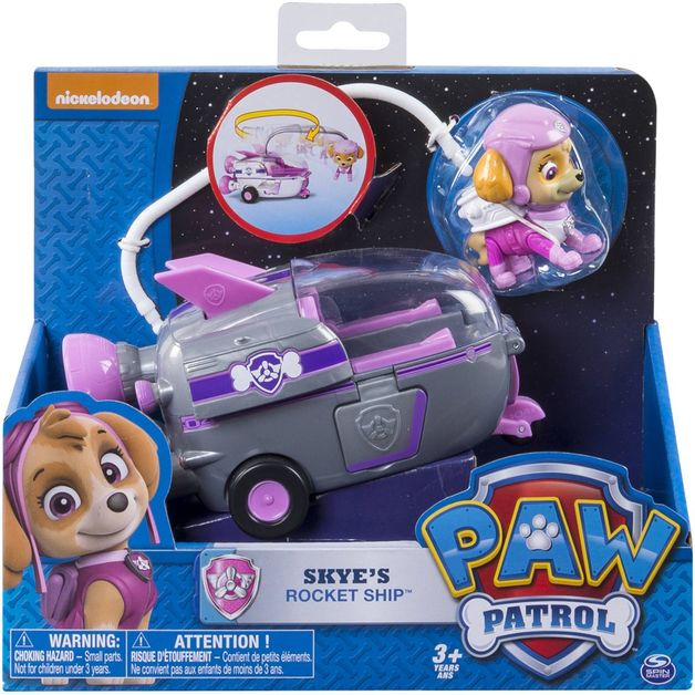 Paw Patrol Basic Vehicle & Pup - Skye's Rocket Ship